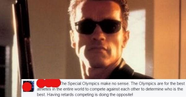 Arnold Schwarzenegger,facebook,insult,special olympics
