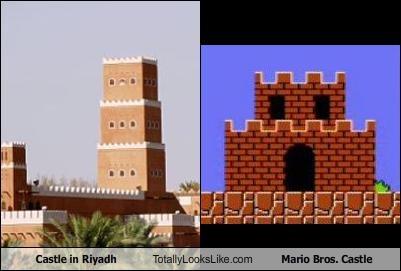 Castle in Riyadh Totally Looks Like Mario Bros. Castle