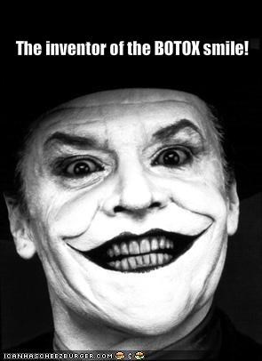 batman botox jack nicholson the goddamn batman the joker