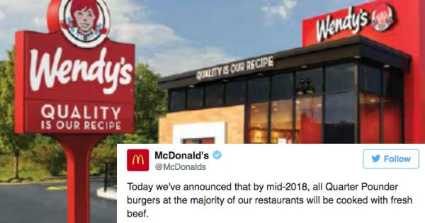 Wendy's Just Started the Epic Twitter Beef War With McDonald's Over Beef That We Damn Well Deserve