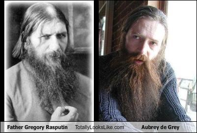 aubrey de grey,doctor,gregory rasputin,religion