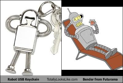 bender cartoons futurama Keychain robots TV - 1864802048
