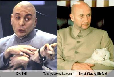 Dr. Evil Totally Looks Like Ernst Stavro Blofeld