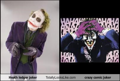 Heath ledger joker Totally Looks Like crazy comic joker