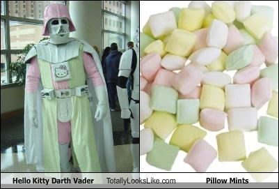 candy,darth vader,food,hello kitty,Pillow,star wars
