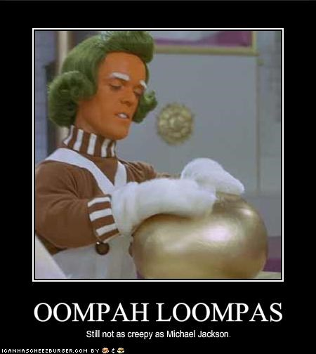 Charlie and the Chocolate Factory creepy michael jackson movies oompah loompahs roald dahl Willy Wonka - 1884214016