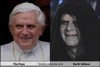The Pope Totally Looks Like Darth Sidious Cheezburger Funny