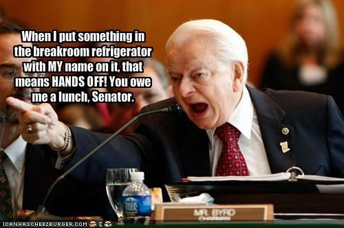 democrats food lunch robert byrd United States Senate - 1899439360