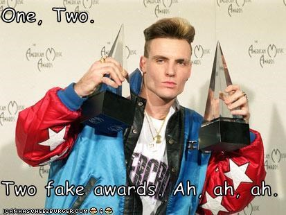 One, Two  Two fake awards  Ah, ah, ah  - Cheezburger - Funny Memes