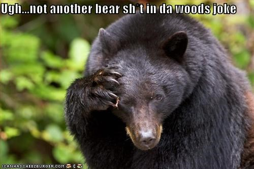 Ugh   not another bear sh*t in da woods joke - Cheezburger - Funny