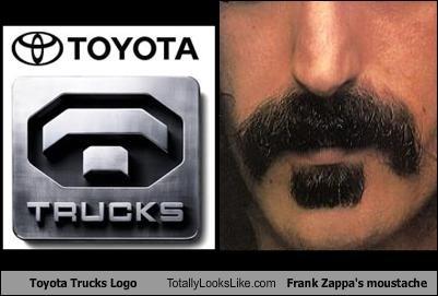 Famous Moustache frank zappa musician toyota trucks - 1907345152