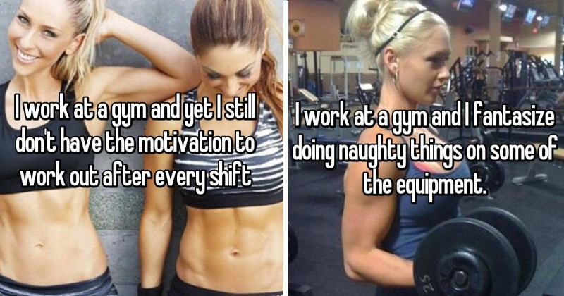 whisper confessions about people who work at a gym