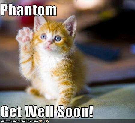 Phantom Get Well Soon! - Cheezburger - Funny Memes | Funny Pictures