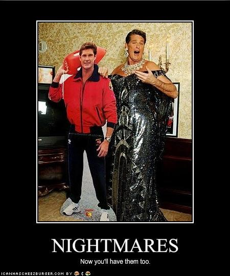 singers,Baywatch,david hasselhoff,knight rider,nightmares,The Hoff,TV