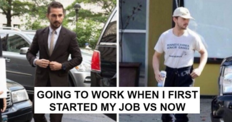 work memes going to work when I first started my job vs now