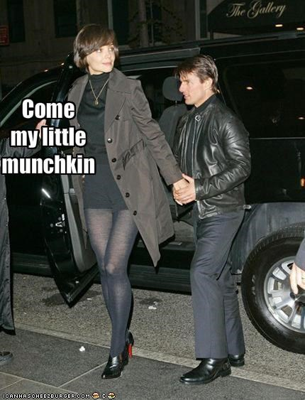 katie holmes,movies,munchkins,scientology,Tom Cruise,tomkat