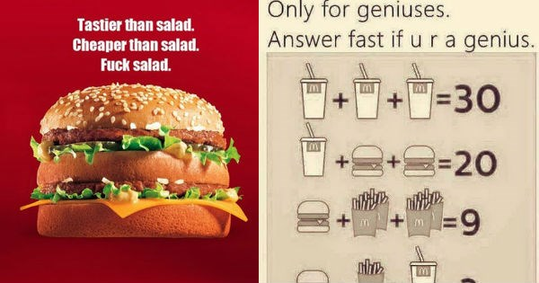McDonald's math fast food algebra - 1929477