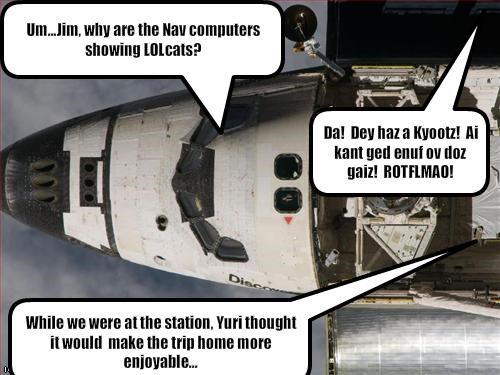 astronaut,international space station,lolcats,space,space shuttle