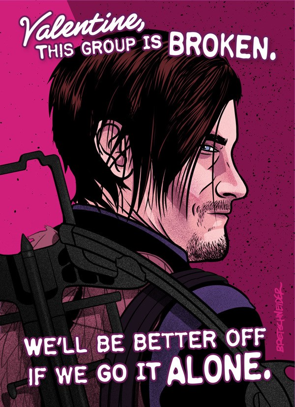 Fan Art The Walking Dead Valentines day - 193285