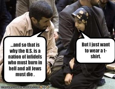 clothing iran jews Mahmoud Ahmadinejad president Protest
