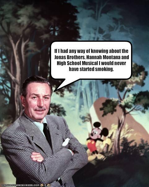 crap disney hannah montana high school musical jonas brothers smoking teeny bopper movies walt disney - 1934180608