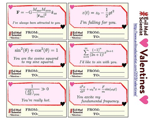 MAD SCIENCE cards funny Valentines day