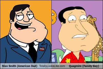 Stan Smith American Dad Totally Looks Like Quagmire Family Guy