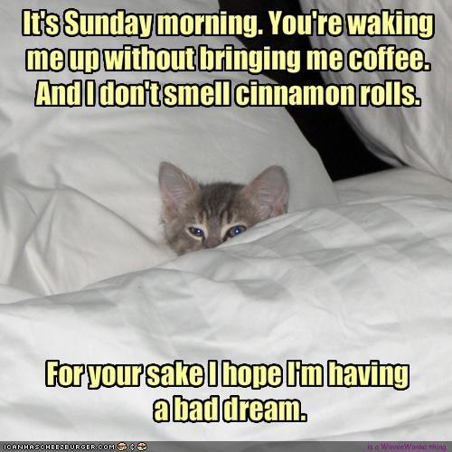 Its Sunday Morning Youre Waking Me Up Without Bringing Me Coffee