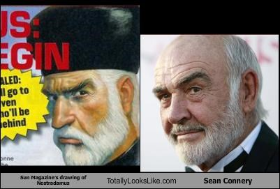 actor drawing magazine nostradamus sean connery