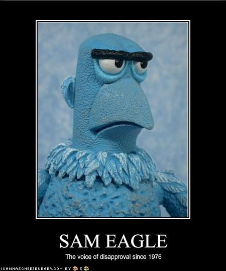 disapproval,jim henson,Sam the Eagle,the muppets