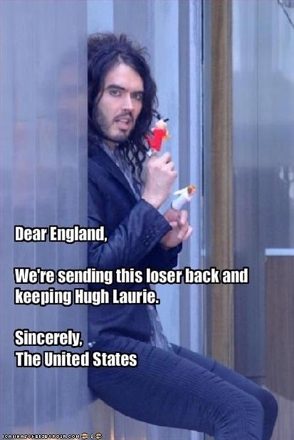 British comedian hugh laurie movies Russell Brand TV - 1951623936