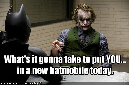 batman,batmobile,christian bale,comics,heath ledger,movies,the goddamn batman