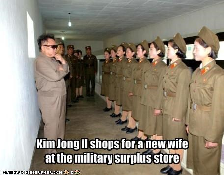 communism,dictator,Kim Jong-Il,military,North Korea,wife