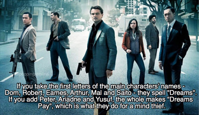 interesting facts about the film inception