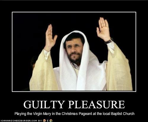 catholics,christmas,guilty,Mahmoud Ahmadinejad,religion,virgin mary