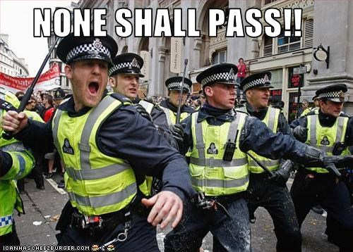 London,Lord of the Rings,monty python,police,protesters