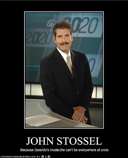 Geraldo Rivera,john stossel,journalist,Media,mustache