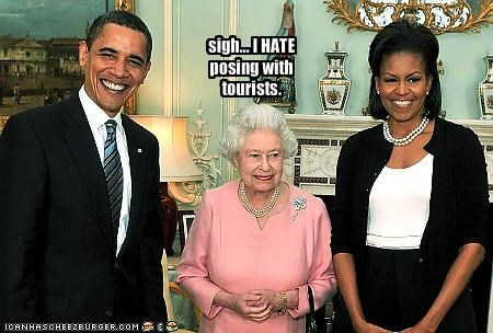 barack obama,democrats,Michelle Obama,president,Queen Elizabeth II,UK
