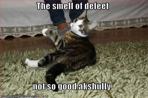 The smell of defeet  not so good akshully
