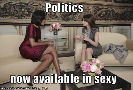 Carla Bruni-Sarkozy democrats First Lady france Michelle Obama