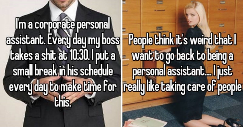 personal assistants share their confessions on whisper