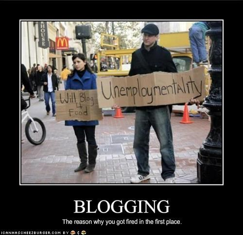 blogging economy protesters unemployment - 1982451456