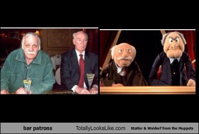 bar,customers,jim henson,muppets,Statler and Waldorf,The Muppet Show