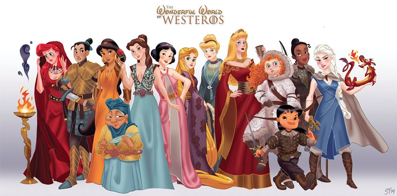 disney Game of Thrones disney princesses fandom crossovers Westeros asoiaf