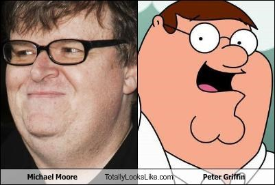 cartoons,family guy,Michael Moore,Peter Griffin,TV