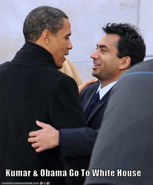 barack obama celeb democrats kal penn movies president White house