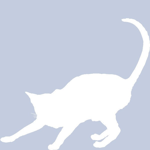 Facebook profile silhouette cat