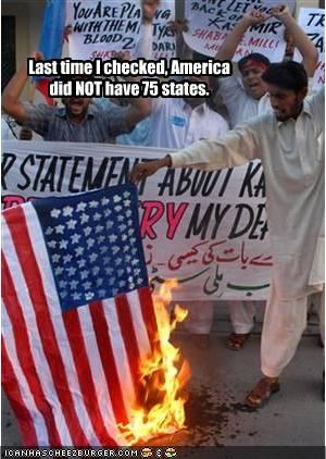 American Flag islam kashmir protesters - 2003554560