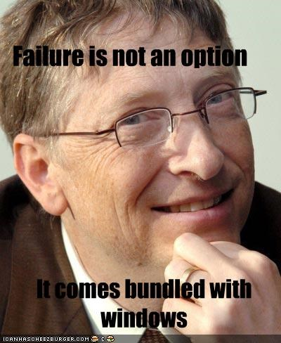 Bill Gates FAIL microsoft Windows Vista windows xp - 2009918720