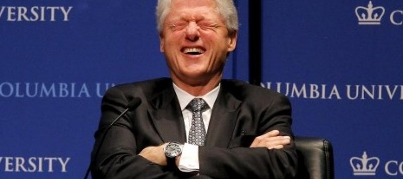 Bill Clinton makes a pun joke about Praying Mantis sculpture outside Clinton Foundation and the internet has fun with it